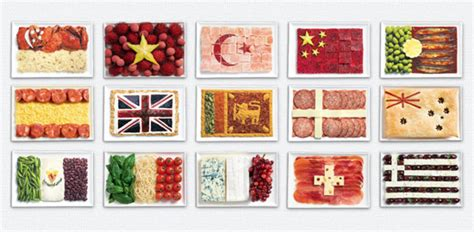 global cuisine tasty national flags caign inspired by food for sydney