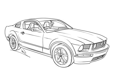 Auto Kleurplaat Getund by Pin By Corcoran On Mustang Stuff Cars Coloring