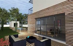 Bardage Façade Maison : maison moderne bardage bois et toit terrasse maisons bati sud ~ Nature-et-papiers.com Idées de Décoration