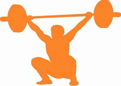 Silhouette Crossfit Lifting Clip Clipart Weightlifting Olympic