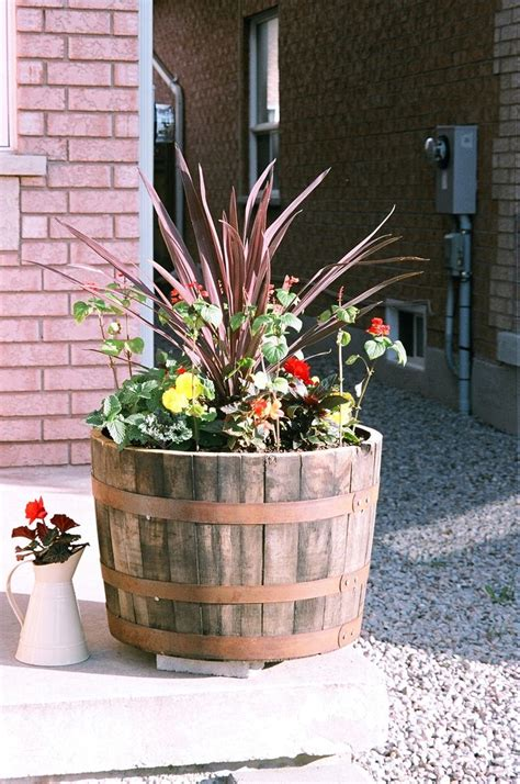 wine barrel planter ideas whiskey barrel planter ideas car interior design