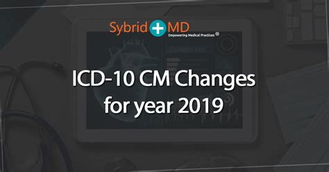 Icd-10 Cm Changes For The Year 2019