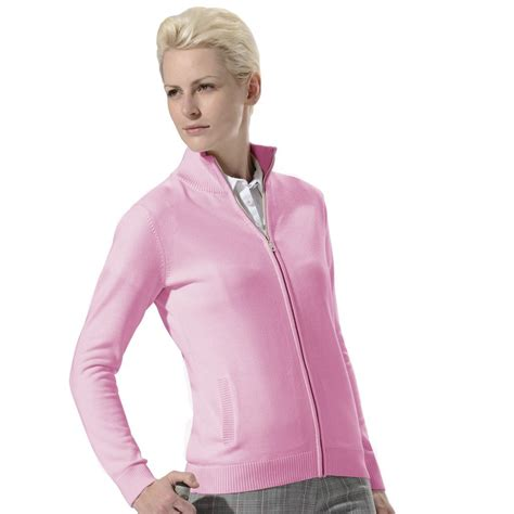 Monterey Club Clothing by Monterey Club Womens Front Zipped Golf Sweater Jackets