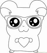Coloring Pages Sunglasses Hamtaro Wear Glasses Coloringpages101 Nerd Colouring Adult Template Anime Sun sketch template