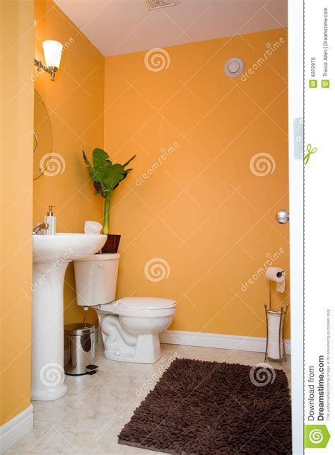 bathroom sink ideas for small bathroom orange bathroom royalty free stock photo image 4972975