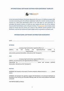 4 software distribution agreement forms pdf word With international distribution agreement template