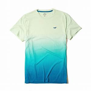 Lyst - Hollister Must-have Ombré Crew T-shirt in Green for Men