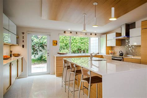 mid century modern kitchen island interior appealing mid century modern kitchen design 9166