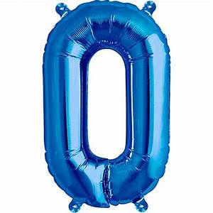 blue foil balloon letter o 16 inches 41cm partyrama With blue foil letter balloons