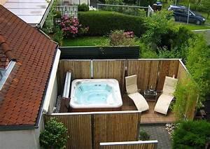 bambus sichtschutz rustikale atmosphare fur ihren With whirlpool garten mit balkon sichtschutz gras