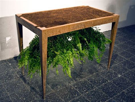 table that turns you upside down fun and clever dirt table turns the plant world upside