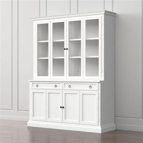 cameo  piece white glass door wall unit reviews crate