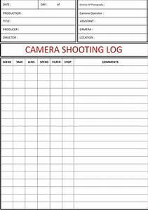 camera shooting log sheet juntoboxfilms pinterest With camera script template