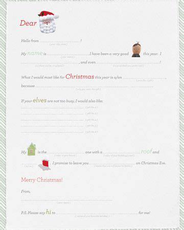 printable letter  santa   boy children