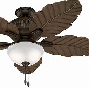 Hunter fan quot outdoor ceiling with led light kit