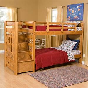 Heartland, Twin, Over, Twin, Bunk, Bed, With, Stairs