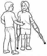 Drawing Handicap Coloring Disabilities Getdrawings sketch template