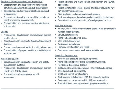 graduate civil engineering resume uk sales engineering