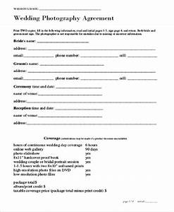 7 sample photography services contracts sample templates for Contract for wedding photography services