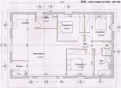plan maison 90m2 3 chambres plan de maison 90m2