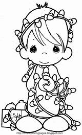 Coloring Angel Xmas Printable Angels Disney Colouring Precious Moments Lights Children Cards Characters sketch template