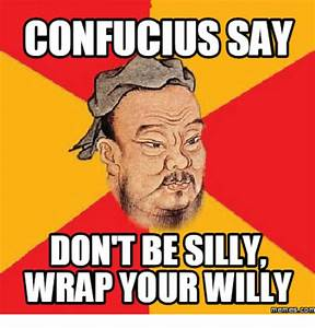 Search confucius says Memes on me.me