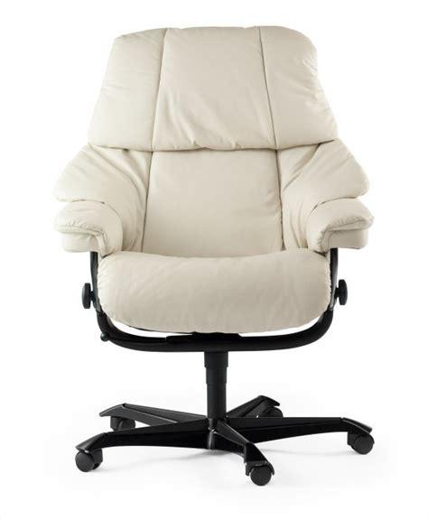 fauteuil de bureau confortable blanc stressless