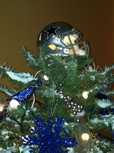 dallas cowboy christmas tree topper took a mini helmet