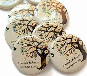 fall wedding favors 25 personalized 125 inch magnets With wedding favor magnets personalized