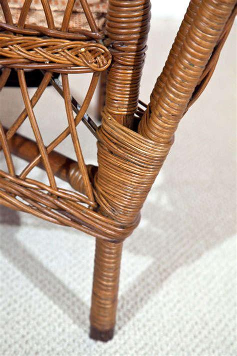 antique ficks reed wicker set  stdibs