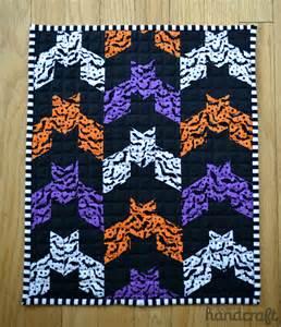 Halloween Bat Quilt Block Pattern