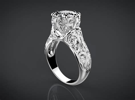 Vintage Style Wedding Ring 3d Model 3d Printable .stl .3dm