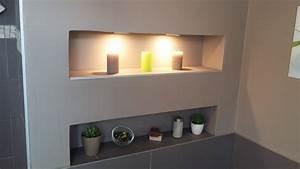 bricolage de l39idee a la realisation salle de bain With salle de bain design avec plaque métallique décorative
