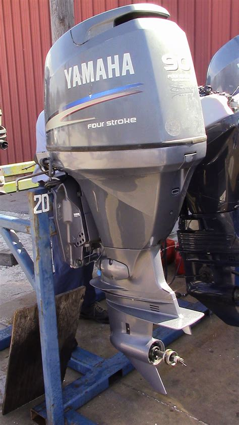 used 2006 yamaha f90tlr 90hp 4 stroke outboard boat motor 20 quot shaft ebay