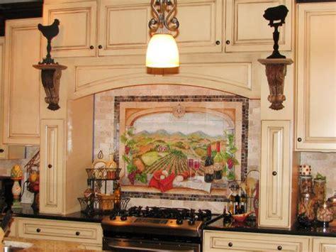 tile murals kitchen vineyard kitchen decor pictures ideas tips from hgtv 2769
