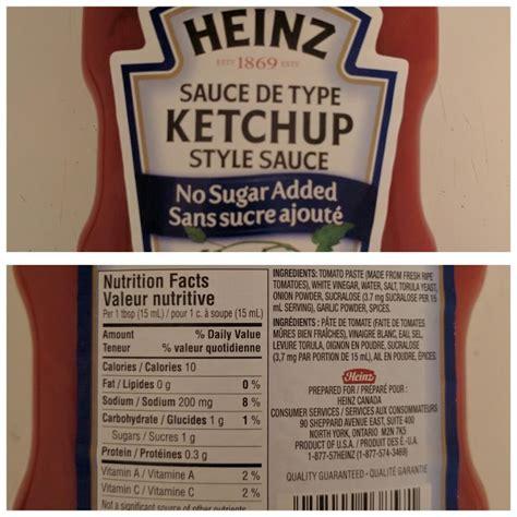 calories in ketchup
