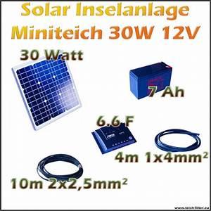 Solar Inselanlage Berechnen : solar inselanlagen 12v dc f r teich und garten ~ Themetempest.com Abrechnung