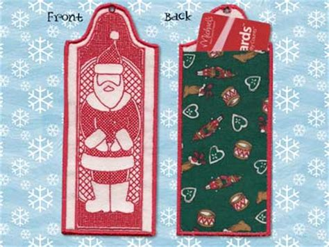 machine embroidery designs ith christmas bookmarks