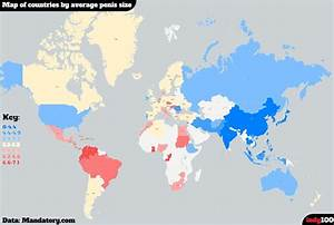 Map Of Countries By Average Size Vivid Maps