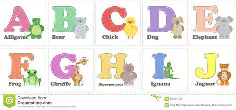 alphabet zoo funny plush animals english alphabet