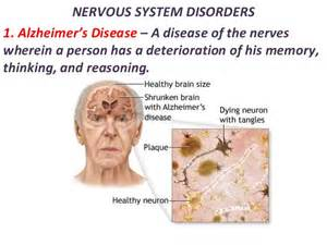 NERVOUS SYSTEM DISORDERS1. Alzheimer's Disease – A disease of the ... Neurological Diseases And Disorders