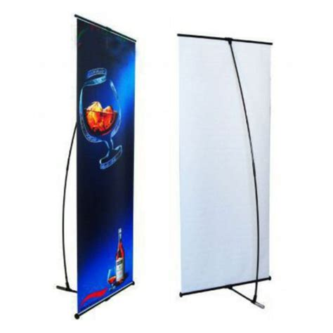 l on a stand l banner stand 24 quot x78 quot