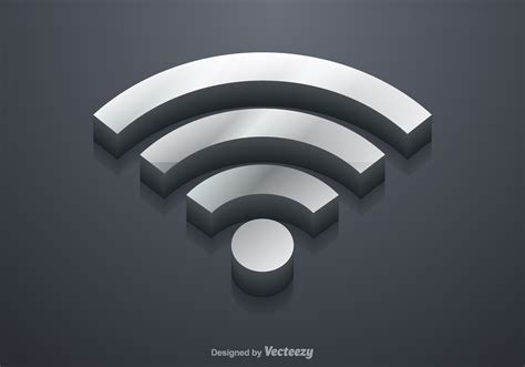 3d Vector Picture by Free 3d Wifi Symbol Vector Free Vector