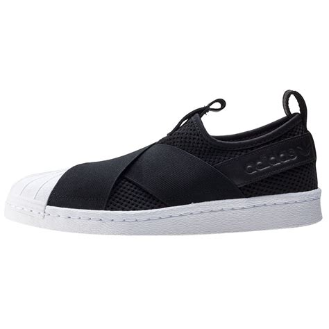 adidas slipon by a d shoes shop adidas superstar slipon w womens slip on in black white