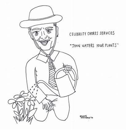 Chores Celebrities Doing Drawings Last John Waters