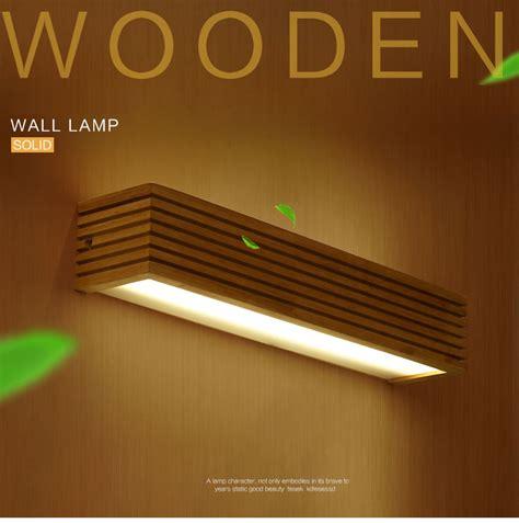 modern japanese style led l oak wooden wall l lights