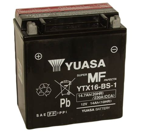 batterie yuasa moto ytx16 bs 1