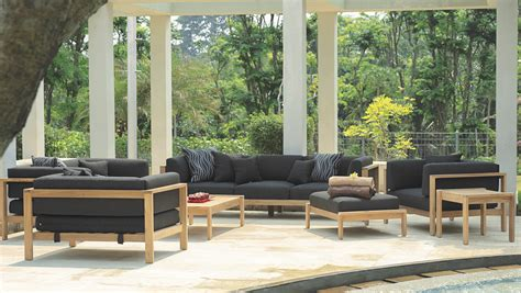 Outdoor Seating Sale by Modern Teak Cushion 3 Seater Sofa Contract Hotel Luxury