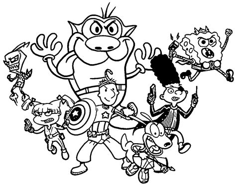 nickelodeon coloring pages 90s coloring pages coloring home