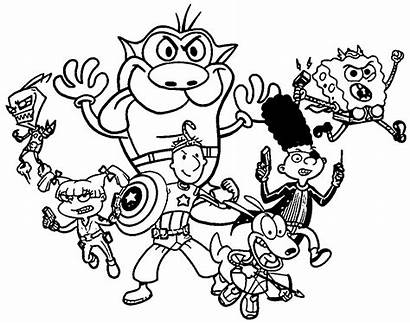Coloring 90s Pages Nickelodeon Cartoon Printable Loud